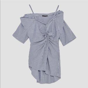Zara • Striped Adjustable off the shoulder Wrap